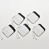 zens gel pads großhandel-10 teile / los Selbstklebende Wiederverwendbare Tens Elektrode Pad Gel Elektroden Digitaltherapie Maschine Massager Muscle Stimulator 2mm Stecker