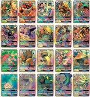 Wholesale New Kids Sets - 2017 New Hot poke 60 Pcs Set GX Mega Shine English XY 25GX cards+ 35 Mega Ex cards GX Cards No repeat Kids Toys