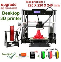 Wholesale Commercial Color Printers - New Upgrade desktop 3D Printer Prusa i5 2.5Kg Filament & 16G TF Card for gift (BIG LCD)