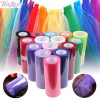 FENGRISE Baby Shower 15 cm 25yds Tulle Roll Bridal Wedding Party Decoration Spool Tutu Regalo di compleanno Wrap Festive Event Supplies