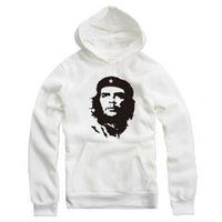 Wholesale Che Free - Wholesale- Che Guevara Hoodies Fleece Mens Print Hooded Sweatshirt Male Pullovers 2017 New Fashion Ernesto Guevara Printed Free Shipping