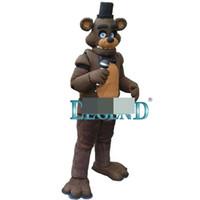 trajes de mascote de coelho venda por atacado-Custom Made Unisex cinco noites no brinquedo de Freddy Brown Bunny Mascot Costume