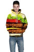 Wholesale Hamburger Pullover - hamburger printed wholesale green color hoodies mens sport wear pullover 3dprinted popular hoodies mens fashion hoodie womens hoodie