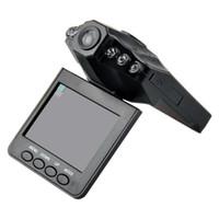 videocámaras dvr system al por mayor-Barato 2.5 '' coche Dash cámaras coche DVR grabadora sistema de cámara caja negra H198 versión de la noche Video Recorder dash Camera 6 IR LED
