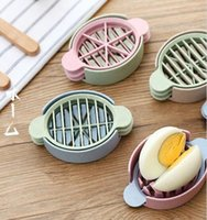 Hot Multifunction Wheat Straw Cut Egg Slicers Outils Diviseurs Conservé Egg Splitter Cut Oeufs Kitchen Essential Cooking Tools