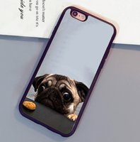 Wholesale Cutest Iphone 4s Cases - Cutest Cool Crazy Pug Print Soft Rubber Skin Phone Cases For iPhone 6 6S Plus 7 7 Plus 5 5S 5C SE 4S Back Cover