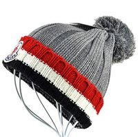 Wholesale Rain Gardens - 6 Colors hot MON brand men women unisex beanies hight quality pom-pom skull caps hats with original tag