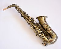 carve saxophones - High quality Antique Copper Simulation Alto Saxophone Musical Instruments body carving With case