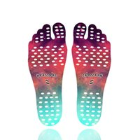 Mandala Beach Feet Sticker Invisible Antideslizante plantillas protección descalzo Sandy Starry Emoji Nakefit zapatos para los pies Soles Stick on Pads Calcetines