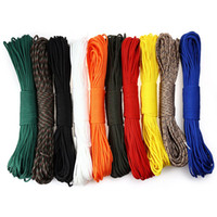 Wholesale Umbrella Rope - Wholesale-Outdoor Multifunctional 7 Core Lanyard Rope 4.5M Umbrella Rope Camping Equipment Emergency Survival Paracord Parachute Cord