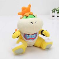 "Wholesale Baby Mario Games - New Super Mario Bros 7"" Bowser JR soft Plush Stuffed Figure Toys opp Retail plush toy Bowser baby"