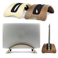 Wholesale Laptop Docking - Wholesale- Wooden Dock Desk Holder Mount Base Stand Support Display Rack for Macbook Air Pro Laptop Tablet Holder Stand