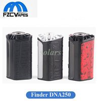 Authentique Think Vape Finder DNA250 Box Mod 250W Vape Mod avec jeu de puce Evolve Puissant ThinkVape 250 vs Lostvape Triade