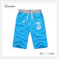 Wholesale Fitness Motion - Wholesale- Taustiem Brand Fashion Casual Home Shorts Male Cotton Motion Slacks Shorts Man Fitness Exercise Short Men Knee Length Sweatpants