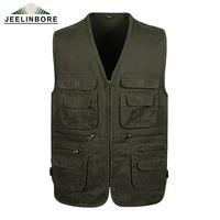 мужские жилеты оптовых-Wholesale- Big yards Spring 2017 New Arrival Casual men's vest, high-quality multi-pocket Sleeveless Jacket Vest,4 Color L-4XL Plus size
