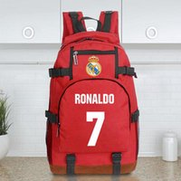 Wholesale Club Computer - landy house 2017 foottball team Real Madrid casillas ronaldo football club computer backpack shcool bags sports backpack team Souvenirs