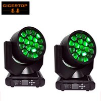 Wholesale Sharpy Head - Good Quality 2Pcs lot Amazing HAWKEYE Led Beam Moving Head Light 19*12W Spot Wash Sharpy 300W RGBW Color For Disco   KTV   Bar TP-L649