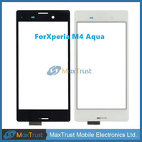 Wholesale sony aqua for sale - Group buy Top Quality quot For Sony Xperia M4 Aqua E2303 E2333 E2353 Touch Screen Digitizer Front Glass Panel Sensor Black White Color