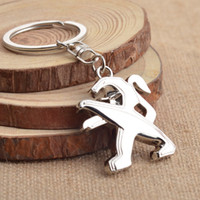 Wholesale 3d Alloy Key Chains Wholesale - For Peugeot Car Keychain Key Rings Holder Auto Keyrings for Peugeot 206 207 Car Accessories 3D Alloy Key Chain Wholesale