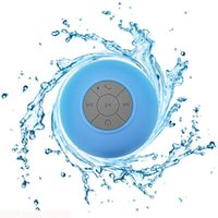 Wholesale Microphone Suction Cup - New Portable Mini Waterproof Wireless Bluetooth Speaker Shower Hands-free Suction Cup In-car Built-in Microphone for iPhone Samsung