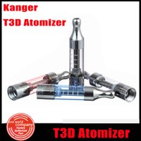 Atacado-Genuine kangertech T3D atomizador dupla bobina Bottom Aquecimento Cartomizer Substituível bobina Head Clearomizer kanger T3S Updated (3pc YY)