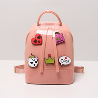 Wholesale Candy Jelly Bag Free Shipping - Wholesale-2016 Summer New 10 Korean Style Candy-colored Cartoon Jelly Bag Women's Casual Multifunction Shoulder bag free shipping