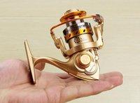 señuelos de pesca al por mayor-Nuevo Hot Mini 12 + 1BB Gapless Fishing Reel Letf Right Raft Rock Ruedas de mano delante Drag Spinning Reel Fish Lure Gear Tackle