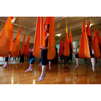 Wholesale Deluxe Swing - Omitree Deluxe 5.5 Yards Elastic Decompression Inversion Therapy Anti-Gravity Yoga Swing Aerial Yoga Hammock Flying Yoga Strap 2000 Lb