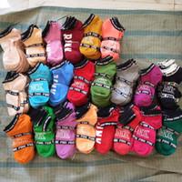 chaussettes de baseball rose achat en gros de-Chaussettes roses Chaussettes de sport pour femme