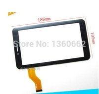 Wholesale Screen Inch 3gs - Wholesale-New Replacement Capacitive Touch Screen Glass Digitizer for Freelander PD10 3GS Tablet MTK8312 7 inch Tablet Free ship