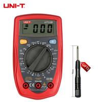 Wholesale Test Transistor Lcd - Mini Palm Size UNI-T Digital Multimeter Auto Range Can Test AC DC Current Transistor LCD Display Handheld +B
