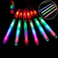 Wholesale Toy Tubas - Flash Stick Tuba Transparent Colorful Acrylic Vocal Concert Luminescence Lighting LED Light Sticks Lamp Toys High Quality 1 15xr C