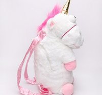 Wholesale Despicable Unicorn Backpack - Wholesale-Despicable me unicorn backpack, despicable me unicorn bag plush unicorn toy backpack toys for girls kids