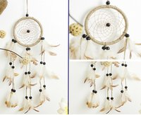 Dream Catcher Wind Chimes Feather Handmade Dreamcatcher Net For Car Wall Hanging Decoration Craft Birthday Wishes Gifts B952L
