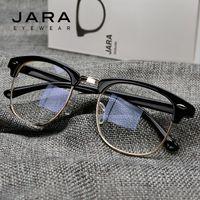 Wholesale Anti Radiation Glasses - Wholesale- JARA Radiation Protection Rivet Frame Eyeglasses Men Women Anti-Blue Ray Brand Classic Computer Glasses Anti-fatigue Goggles