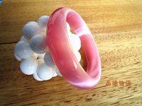 Wholesale Nephrite Jade Bangles - 60mm Chinese Natural Pink Nephrite Jade  Gems Bracelet Bangle