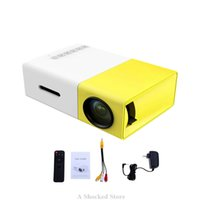 Wholesale Mini Hdmi Projector Free Shipping - Original YG300 Mini Projector LED Portable Cute Projector 500LM 3.5mm HDMI USB Mini YG-300 Projector Home Media Player Free Shipping
