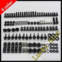 Wholesale Zx6r Body - 100% For KAWASAKI NINJA ZX6R ZX-6R ZX 6R 636 ZX636 ZX6RR 2005 2006 05 06 Body Fairing Bolt Screw Fastener Fixation Kit
