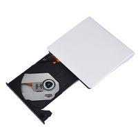 Wholesale 8x Dvd - Freeshipping Ultra-slim USB 3.0 external drive CD DVD writer drive for laptop DVD RW DVD-RAM Optical Storage Burner for Mac 10 OS system
