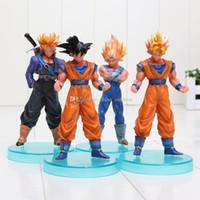 Wholesale Super Trunks - Dragon Ball Z Super Saiyan Goku Trunks PVC Action Figure Toys Dolls 4pcs set