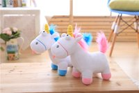 Wholesale Unicorn Blue - Christmas Gifts Direct deal Cartoon unicorn plush toy Rainbow Dash doll High quality and low price 35cm