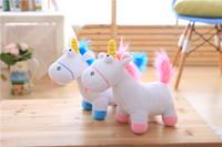 ingrosso blu trattino-Regali di Natale Affare diretto Cartoon unicorno peluche Rainbow Dash doll Alta qualità e prezzo basso 35cm