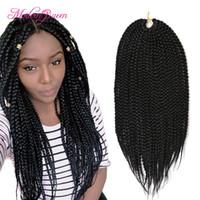 Wholesale Cheap Packs Hair - Cheap Ombre Pretwist 3S Crochet Box Braids Hair Extensions 20inch 80g pack Crochet Braids Hair Kanekalon Classic Box Braiding Hair For Women
