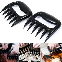 Wholesale Flat Tongs - Grizzly Bear Paws Meat Claws Handler Fork Tongs Pull Shred Pork BBQ Barbecue Tools BBQ Grilling Accessories With Retail Box XL-G145