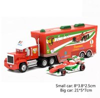 Wholesale Diecast Toy 64 - Disney Pixar Cars 2pcs Lightning McQueen Uncle Jimmy The King 1:55 Diecast Metal Alloy Modle Toys Car Gift For Kids