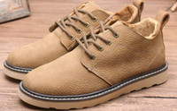 Wholesale Cowhide Top Boots - 2017 Top Quality Hot Fashion Men Shoes Spring Autumn Ankle Boots Men Comfortable LeatherAnkle Boots Men Martin Cowhide Size Euro 39-44