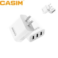 Wholesale High Quality Wall Usb - Casim Original high quality 5V 3.4A Fast Charger Travel Universal US EU Home Wall Charger 3 USB Ports Smart Quick Charges