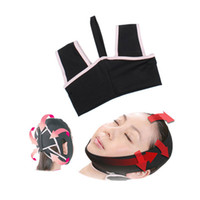 Wholesale Lift Up Face Mask - High quality Free shipping Face Lift Up Belt Sleeping Face-Lift Mask Massage Slimming Face Shaper Relaxation Facial Slimming Bandage