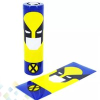Wholesale Shrinkable Sleeve - 18650 Battery Sleeve Skin PVC Heat Shrinkable Tubing Wrap fit 18650 battery Superman Batman Captain America Re-wrapping DHL Free
