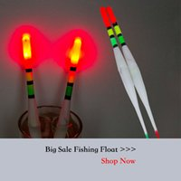 Atacado - Barato bom selado plástico pesca flutuador Bobber com LED Light Flutuante Bóia Vertical Água do mar Freshwater Night Luminous Float